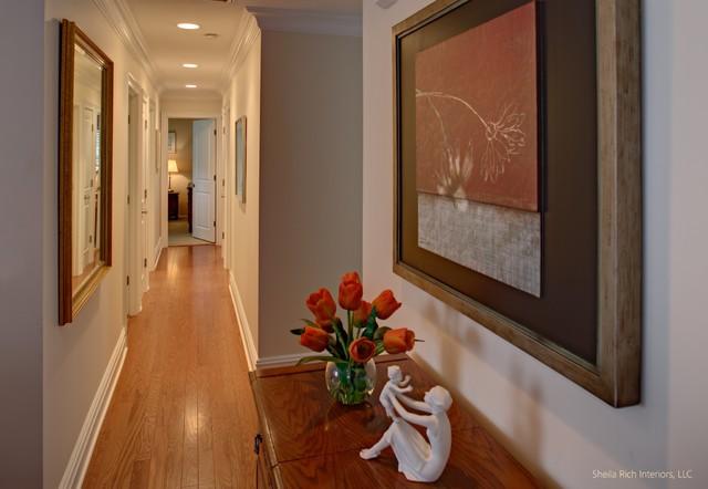Hallway to Bedrooms contemporary-hall