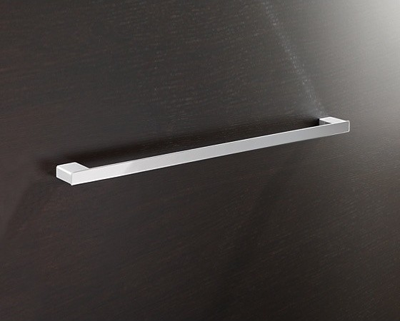 Square 24 Inch Towel Bar In Polished Chrome contemporary-towel-bars-and-hooks