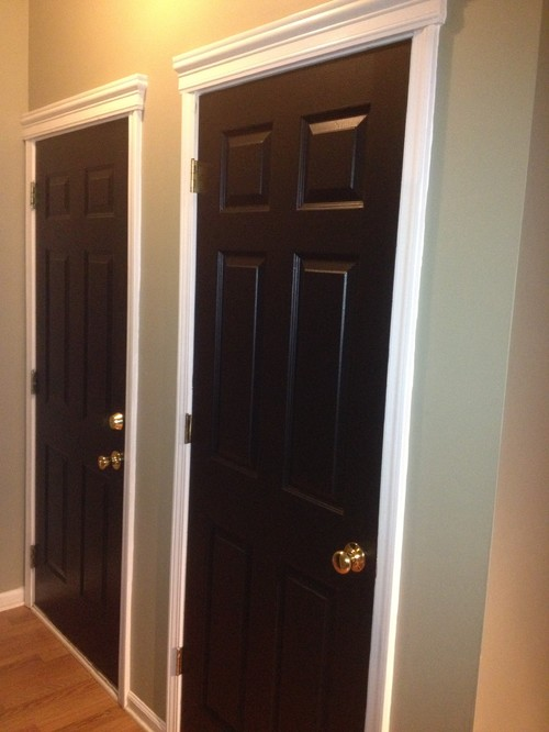 black interior door before and after. Black Bedroom Furniture Sets. Home Design Ideas