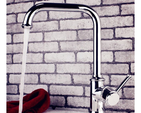 Modern Bathroom Single Lever Faucet - Smooth, long lasting, and drip-free operation ceramic disc cartridge