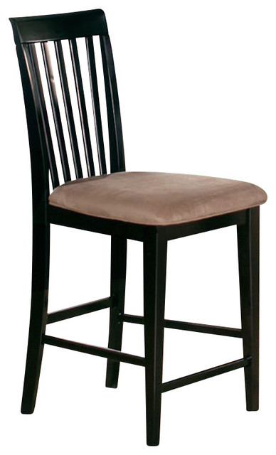 Atlantic Furniture Mission Pub Chair in Espresso (Set of 2) transitional-dining-chairs
