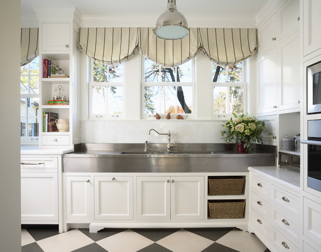Bulter's Pantry with German Silver Sink - traditional - kitchen ...