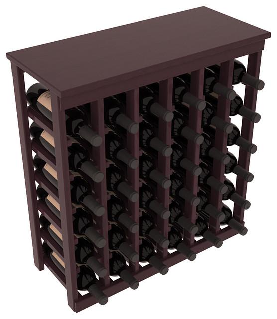 36 Bottle Kitchen Wine Rack in Premium Redwood, Burgundy Stain + Satin Finish contemporary-wine-racks