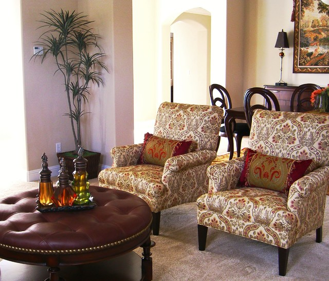 Fabulous Chairs And Ottoman Traditional Living Room San Francisco By