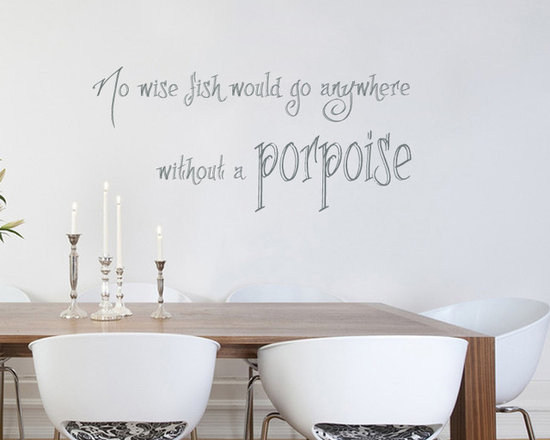 Vinyl Decals Alice in Wonderland Quote No Wise Fish Go Without Porpoise Home Wal -
