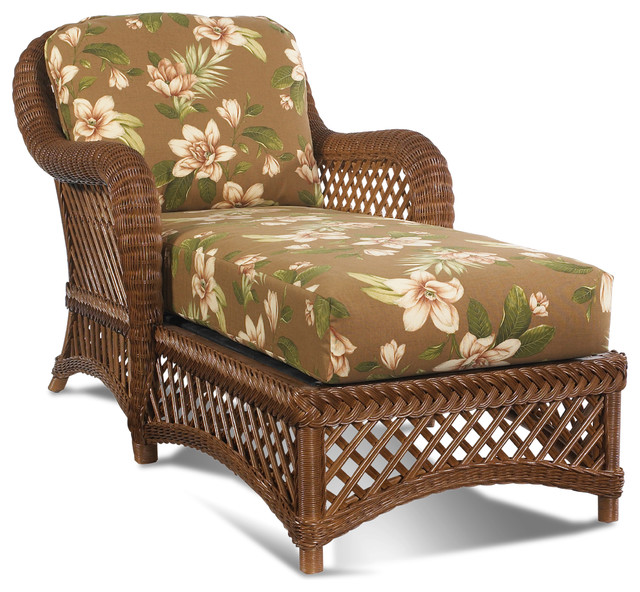 Lanai Wicker Chaise Traditional Furniture new york