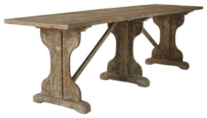 Zentique Furniture Cabries Table traditional-indoor-pub-and-bistro-tables