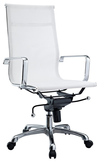Regis white mesh office chair modern task chairs by lexmod