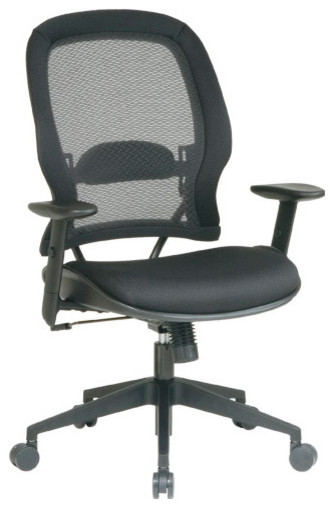 Black Air Grid Executive Mesh Office Chair modern-office-chairs