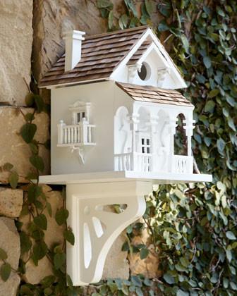 Honeymoon Cottage Birdhouse traditional-birdhouses