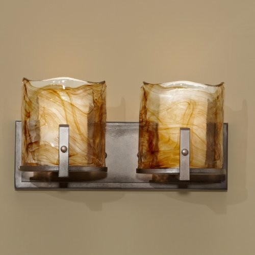 Murray Feiss VS18902 Aris 2-Light Vanity Fixture contemporary-bathroom-lighting-and-vanity-lighting