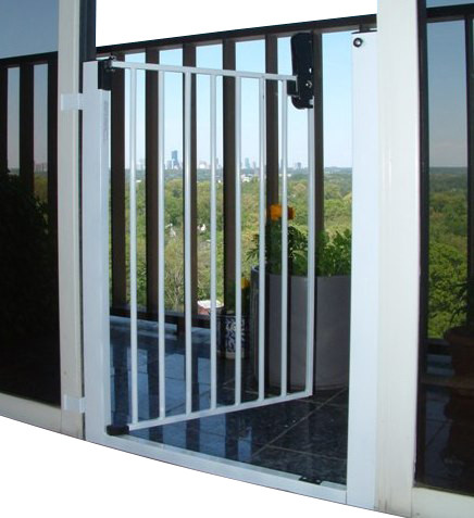 Lock-n-Block Sliding Door Gate - Traditional - Baby Gates And Child ...