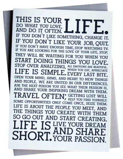 Holstee- Manifesto Greeting Card- 6-Pack contemporary-prints-and-posters