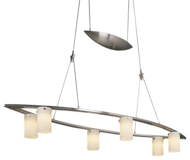 Low Voltage Outdoor Chandelier: Counter Weights 6-Light Low Voltage Chandelier