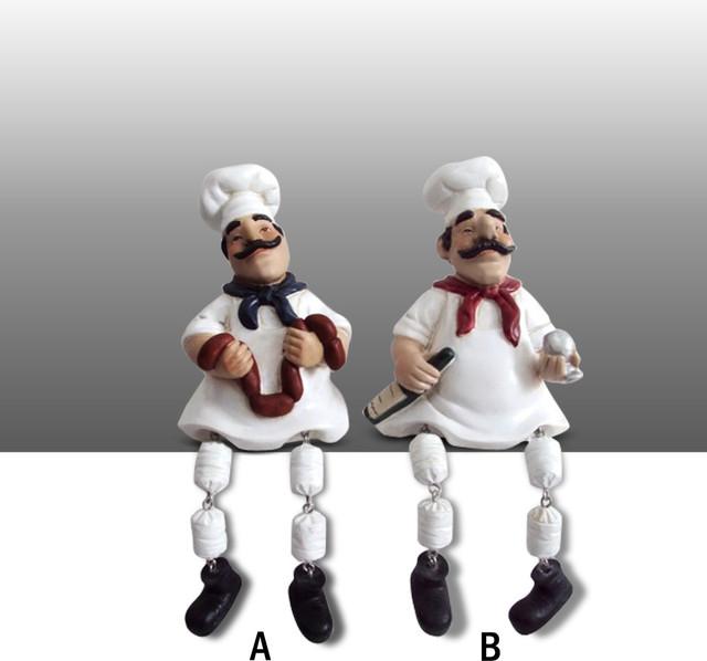 Fat Chef Kitchen Rugs: Fat Chef Kitchen Statue Figure Shelf Sitter Art Decor