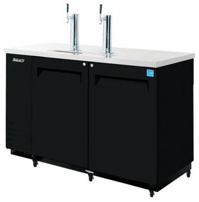 Double Wide Commercial-Grade Kegerator modern-beer-and-wine-refrigerators