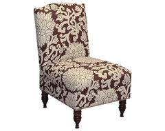 Coventry Armless Nail Button Chair - Chocolate eclectic-chairs