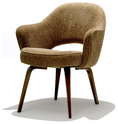 Knoll Saarinen Executive Armchair with Wood Leg modern-chairs