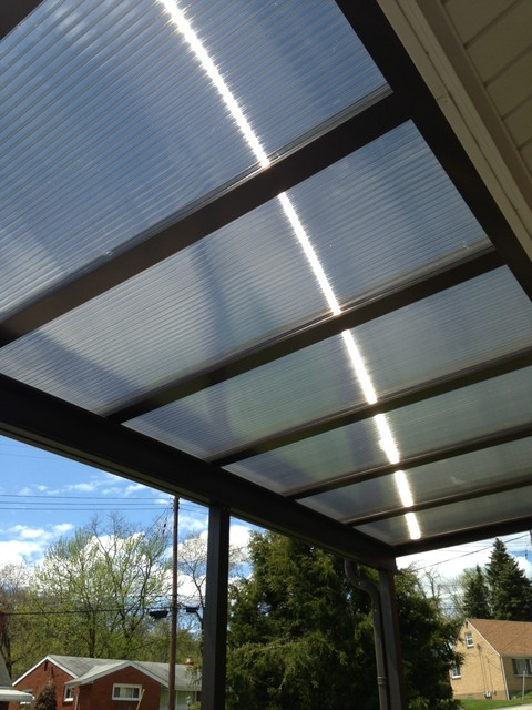 Patio Covers Bronze Translucent Panels Modern