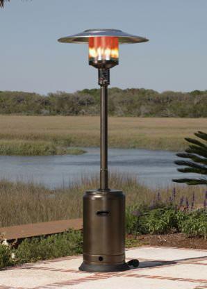 Fire Sense Hammer Tone Bronze Commercial Patio Heater fire-pits