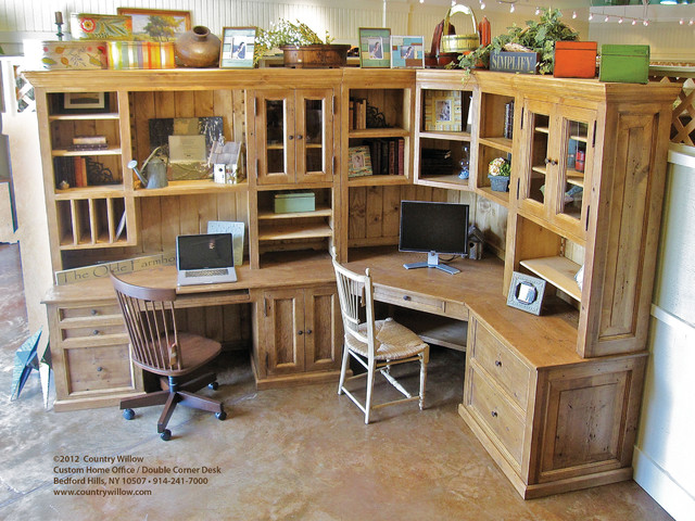 Country Willow Home Office / Double Corner Desk - Traditional - new