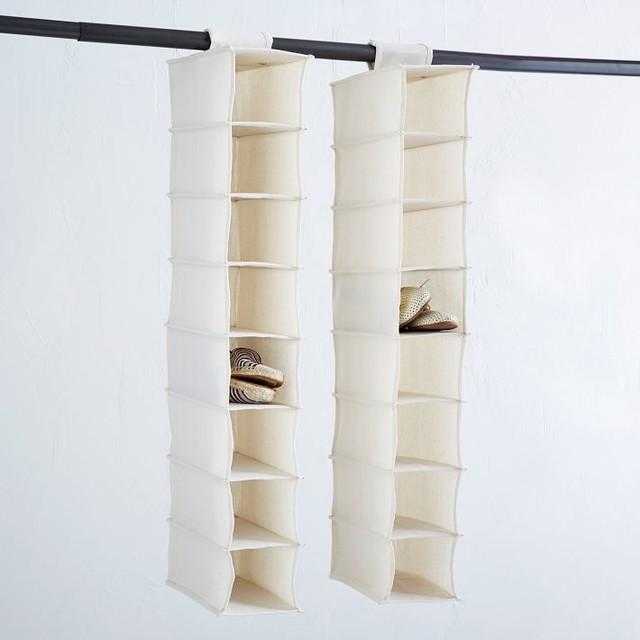 canvas hanging shoe organizer contemporary closet