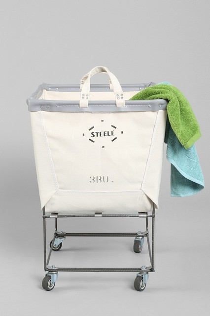 Steele Canvas Elevated Laundry Hamper, Neutral eclectic-hampers