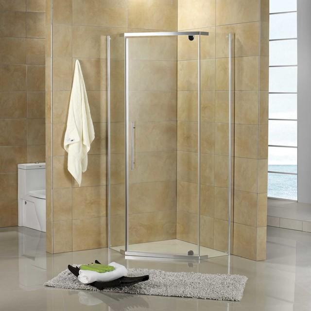 36 X 36 Lexi Neo Angle Corner Shower Enclosure Contemporary S