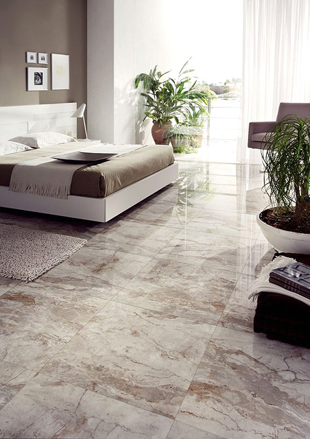 Breccia 24 X24 Polished Porcelain Tile Contemporary