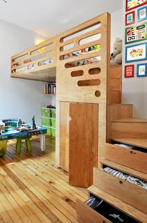 παιδικά έπιπλα - παιδικό δωμάτιο με υπερυψωμένο κρεβάτι θεσσαλονίκη 1α