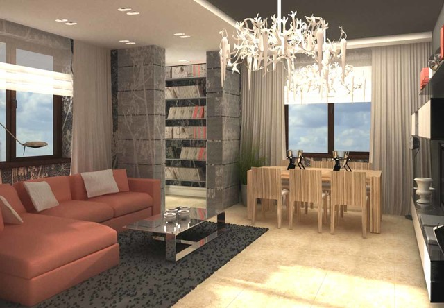 Style concept development contemporary-rendering
