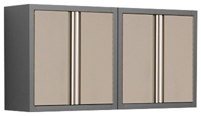 Coleman 2 x Taupe 18-Gauge Garage Wall Cabinets - Modern - Storage And Organization - other ...