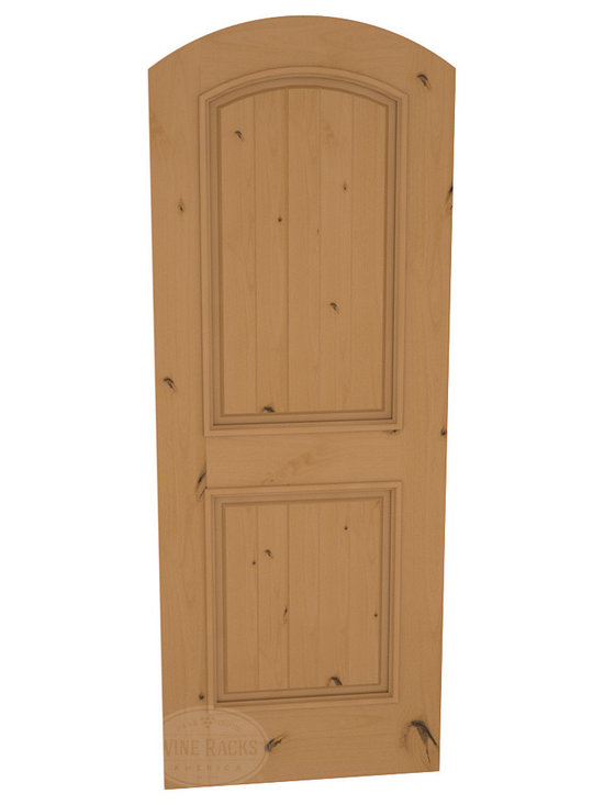 CellarSelect™ Wine Cellar Door: Malbec Solid (Oak Stain with Lacquer) -