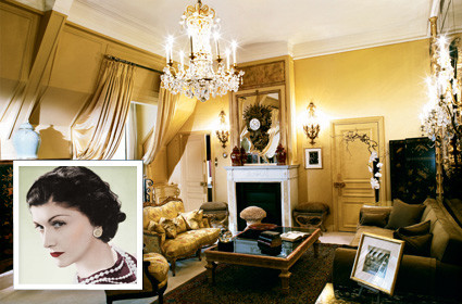 Coco Chanel's Apartment at 31 Rue Cambon tropical