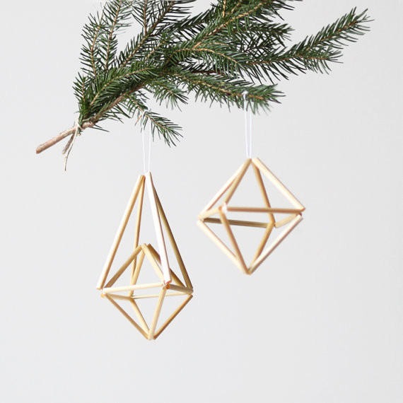 Natural Himmeli Ornaments By AMradio Modern Christmas