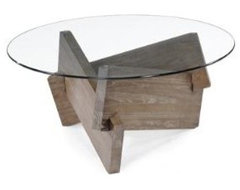 Terria Modern Glass Coffee Table contemporary-coffee-tables