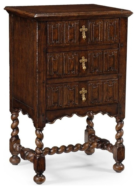New Jonathan Charles Chest of Drawers Dark traditional-dressers