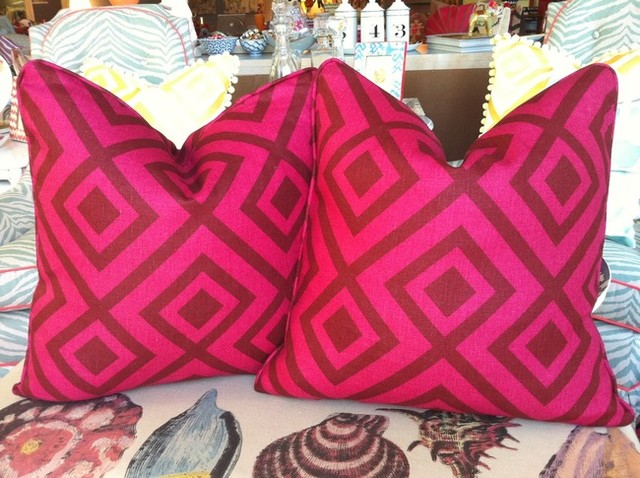 18 David Hicks Pillow in Wine/Magenta eclectic pillows