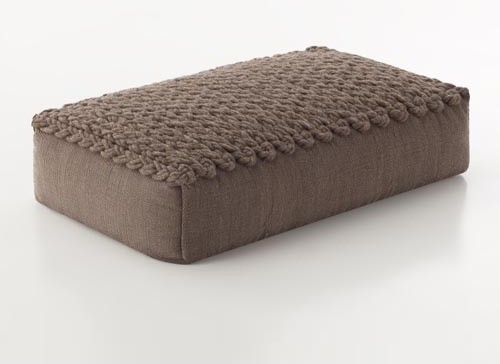 Large Modern Floor Pillows : GAN Trenzas Large Pouf modern-floor-pillows-and-poufs