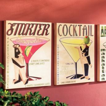 Refreshing Cocktail Wall Art traditional-artwork