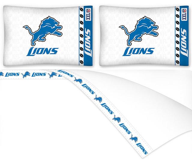 Detroit Lions Bedding Set Full