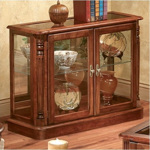 Bordeaux Console Table and Curio - Modern - Side Tables And End Tables - by Wayfair