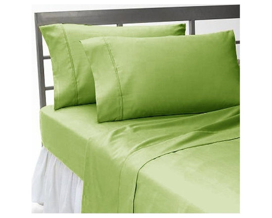 SCALA - 400TC 100% Egyptian Cotton Solid Sage Olympic Queen Size Flat Sheet - Redefine your everyday elegance with these luxuriously super soft Flat Sheet  . This is 100% Egyptian Cotton Superior quality Flat Sheet that are truly worthy of a classy and elegant look.