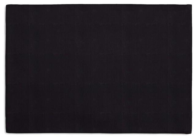 Black Faux Linen Custom Placemat Set contemporary-table-linens