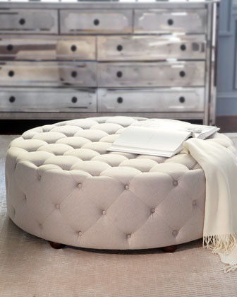 Bevin Tufted Ottoman traditional ottomans and cubes