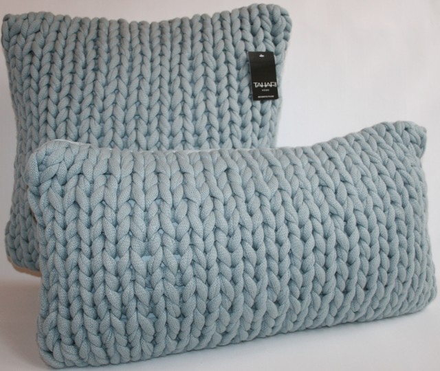 Braided Sweater Knit Accent Pillow beach-style-decorative-pillows