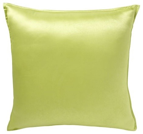 Solid Silk Pillow Cover, Chartreuse contemporary pillows