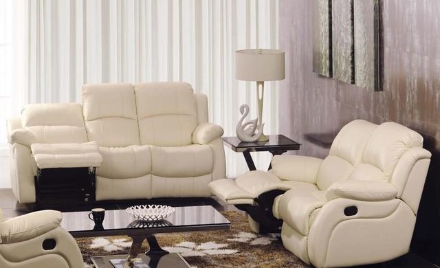 Ambra Italian Leather Reclining Sofa Set modern-sofas