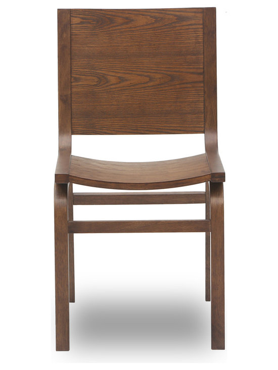 Bryght - Nes Cocoa Wood Dining Chair - The Nes dining chair is an award winning, graceful bentwood design made from moulded plywood, expertly veneered in hardwood. The Nes dining chair perfectly brings together simplistic elegance with its smooth lines and a strong and sturdy sculptural design