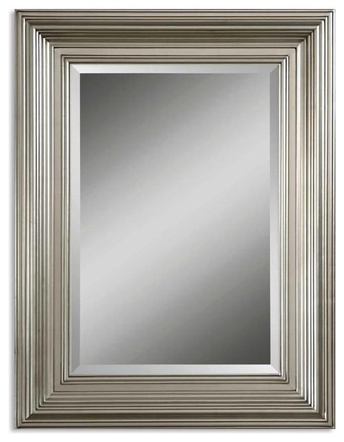 Mario Silver Mirror traditional-mirrors